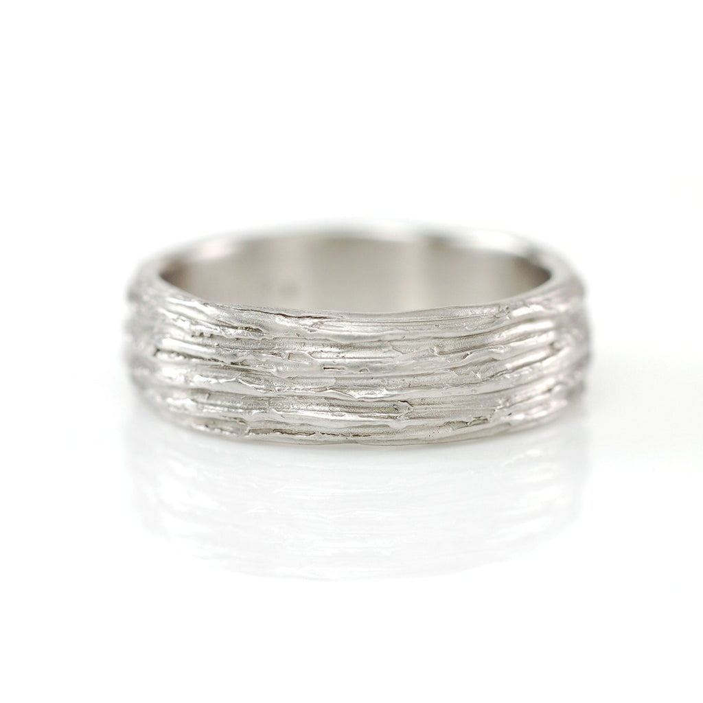 Tree Bark Ring in Palladium 950 - Size 10 1/4 - Ready to Ship