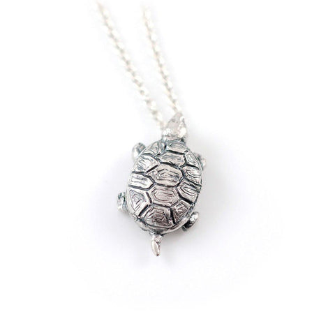 Turtle Pendant in Sterling Silver - Made to Order - Beth Cyr Handmade Jewelry