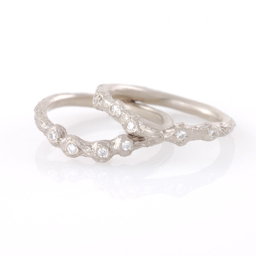 Custom Twig Ring with Moissanite or Diamonds - Beth Cyr Handmade Jewelry