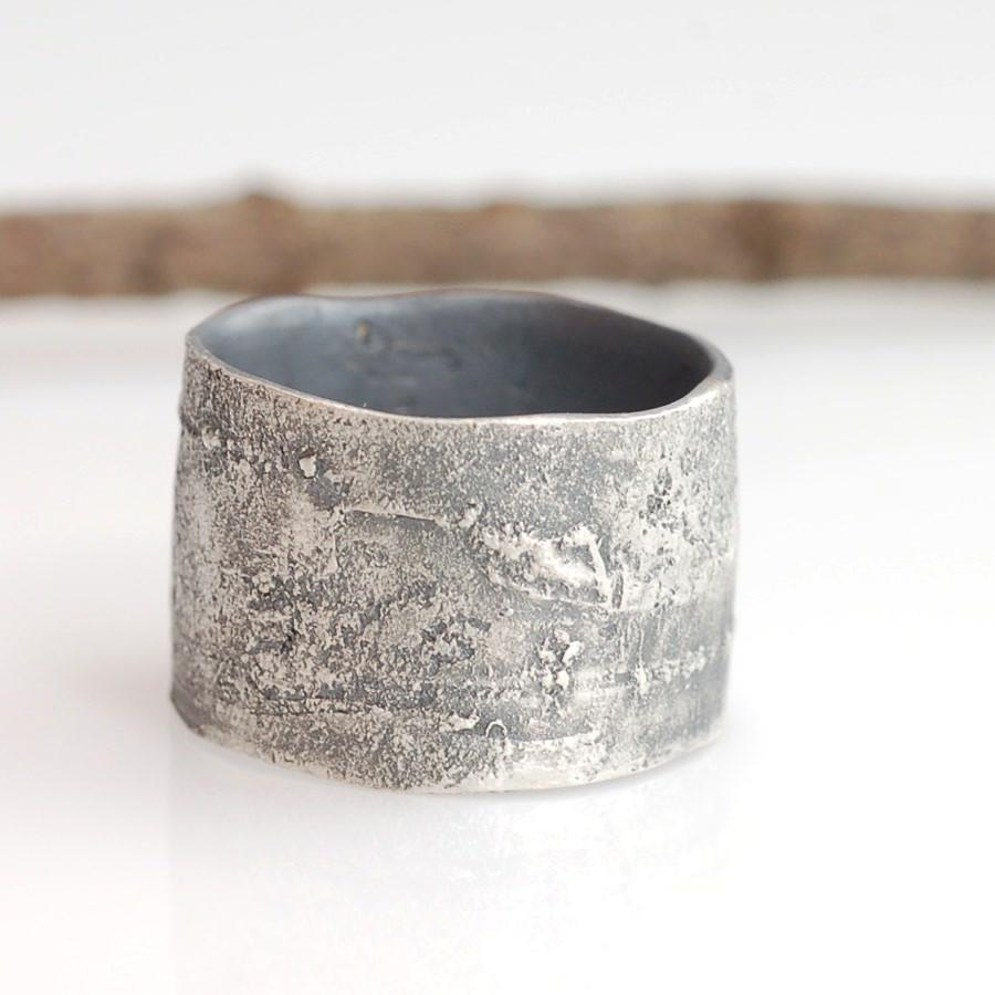 Birch Bark Ring in Sterling silver - nature inspired ring by Beth Cyr