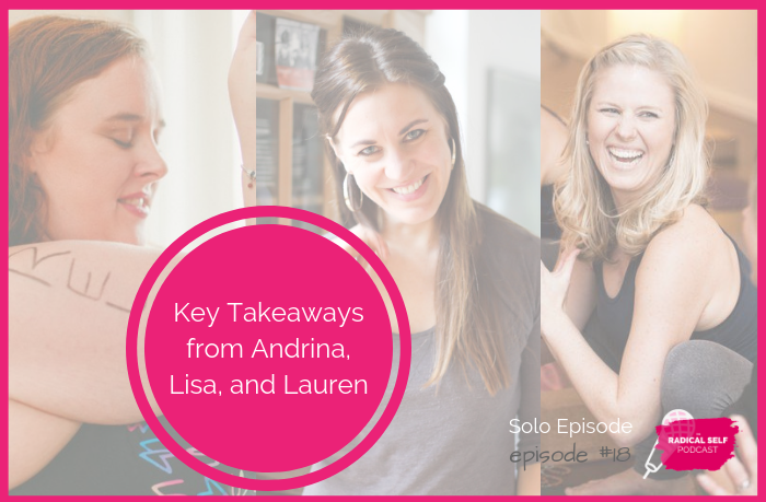 {E18} Key Takeaways from Andrina, Lisa, and Lauren