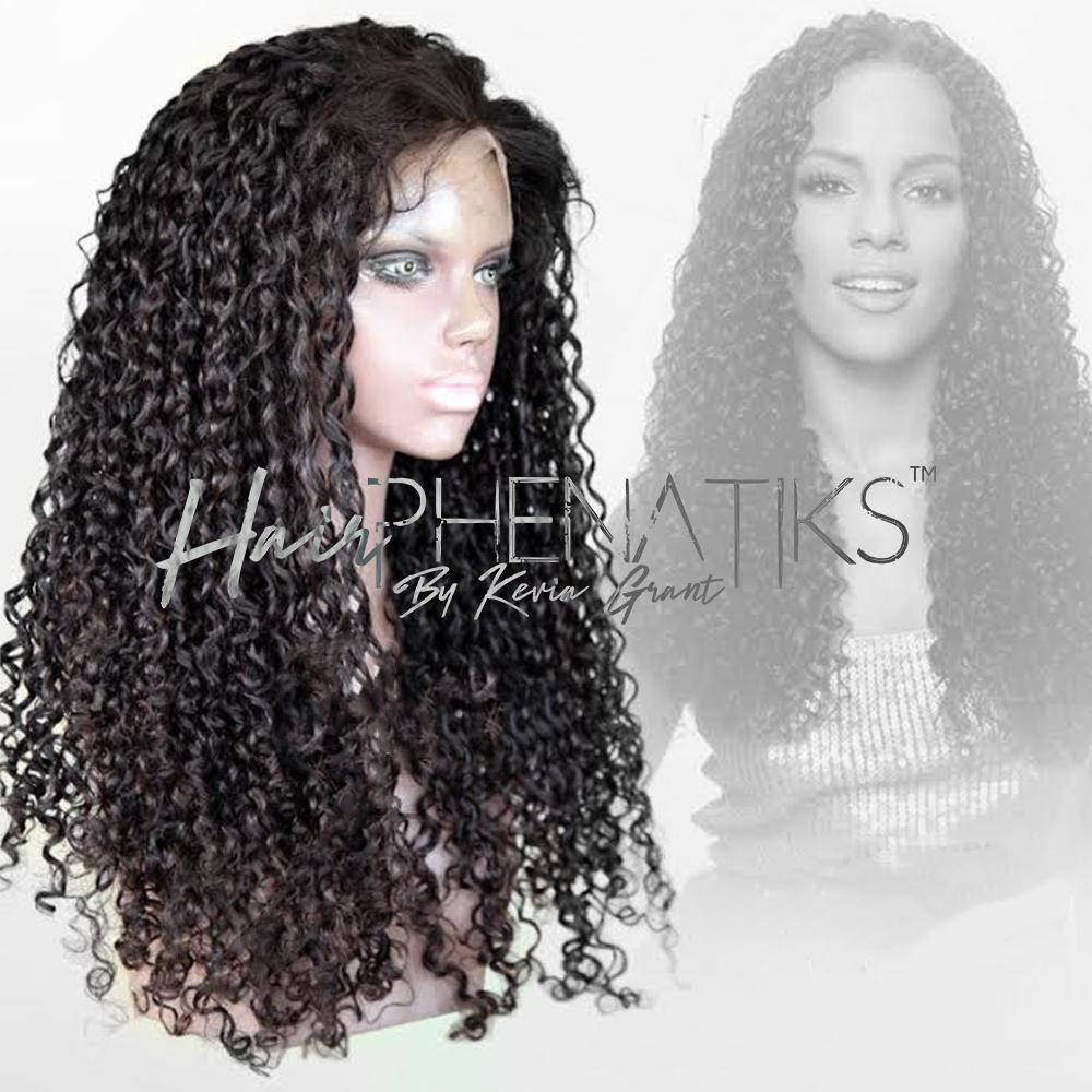 Lace Wig - Curly Glueless Full Lace Virgin Hair Wig