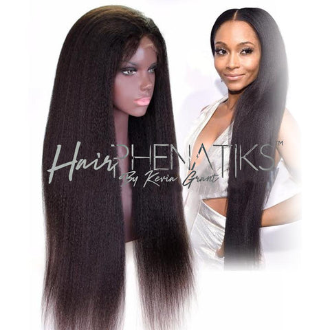 Lace Wig - Yaki Glueless Full Lace Virgin Hair Wig