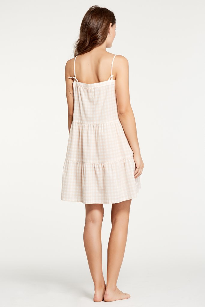 Annie Gingham Blush Dress