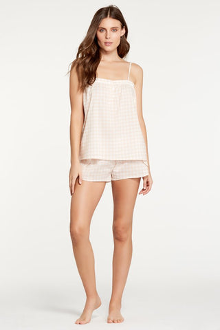 Iris Gingham Blush Cami
