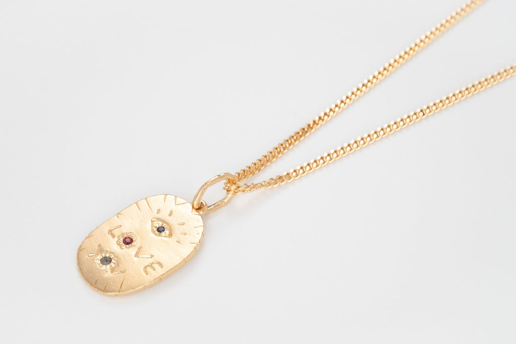 Eye Love You Necklace, Gold