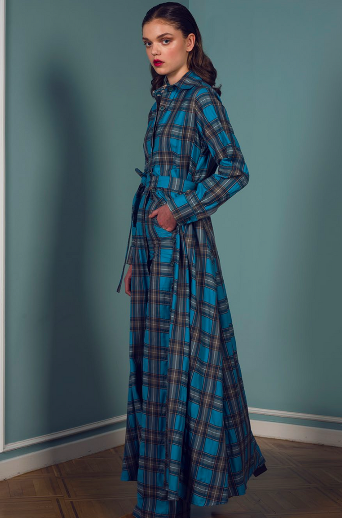 Valerie Long Check Shirt Dress