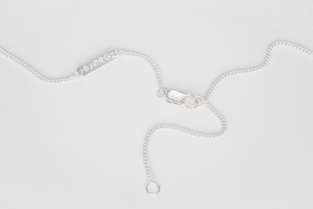 White Nights Necklace with Embracing Arms, Silver