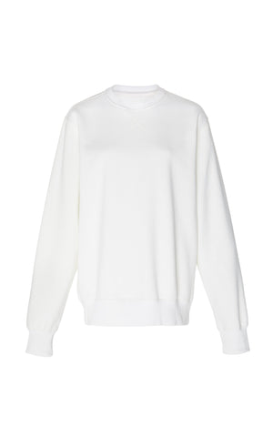 Holly Brushed Back Fleece White