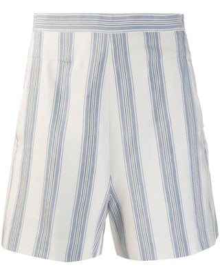Stripe Ivory Blue Haze Tailored Shorts