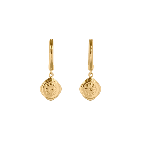 Boh Runga - Marigold Huggie Gold Plated Earrings