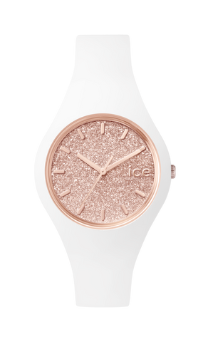 ICE GLITTER ROSE GOLD SMALL WATCH