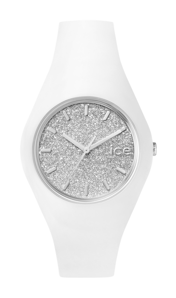 ICE Glitter White & Silver Unisex Watch