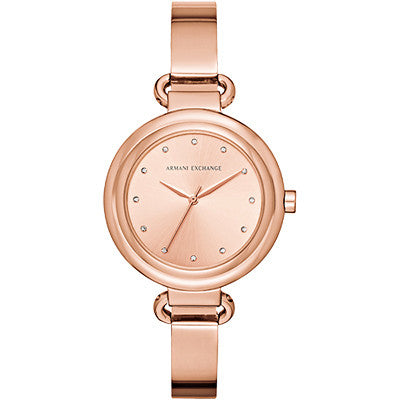 Armani Exchange Rose Gold Ladies Watch AX4241