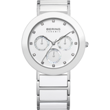 Bering Multifunction White Ceramic Watch 11438-754