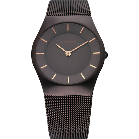 Bering Ladies Brown Dial & Mesh Watch 11930-105