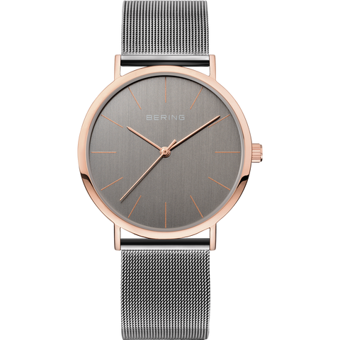 Bering Gens Vintage Slim, Rose Gold & Grey Watch 13436-369