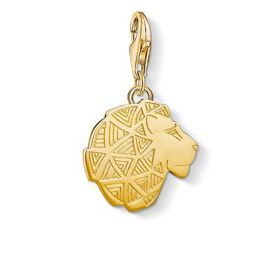 THOMAS SABO CHARM CLUB YELLLOW GP LION HEAD CHARM