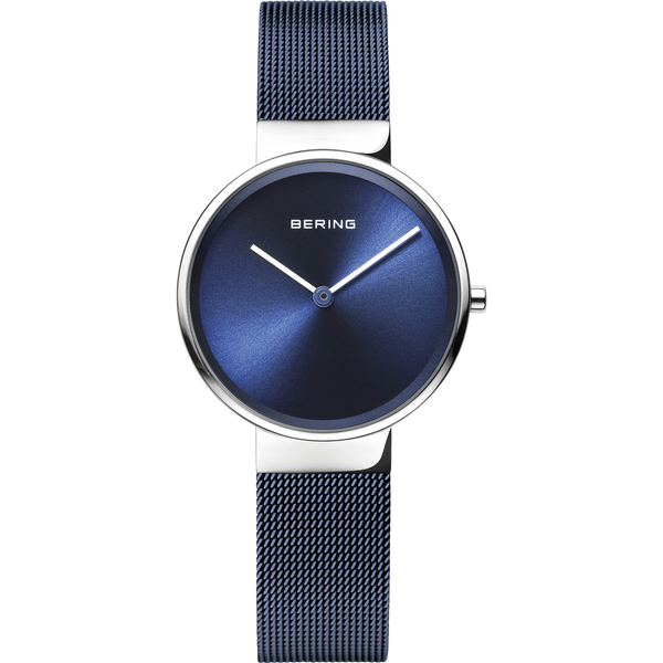 Bering Ladies Blue Steel Mesh Strap Watch 14531-307