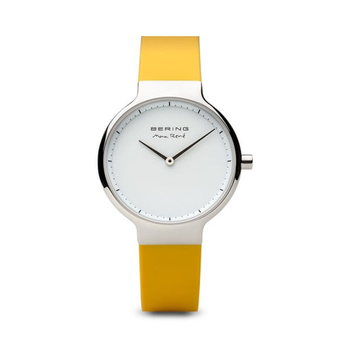 Bering Max René / Polished Silver / Yellow (31mm) / 15531-600