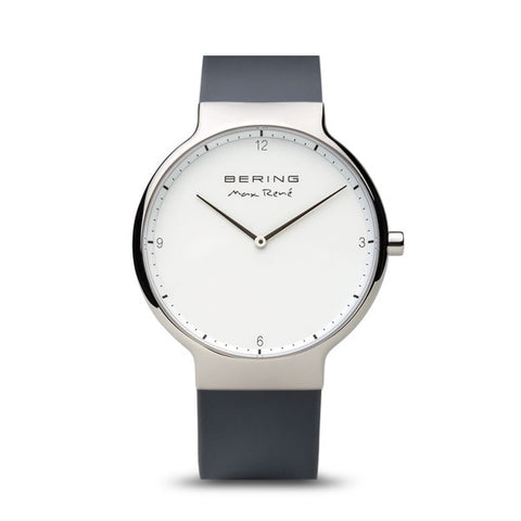 Bering Max René / Polished Silver / Grey (40mm) / 15540-400