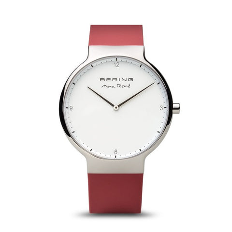 Bering Max René / Polished Silver / Red (40mm) / 15540-500