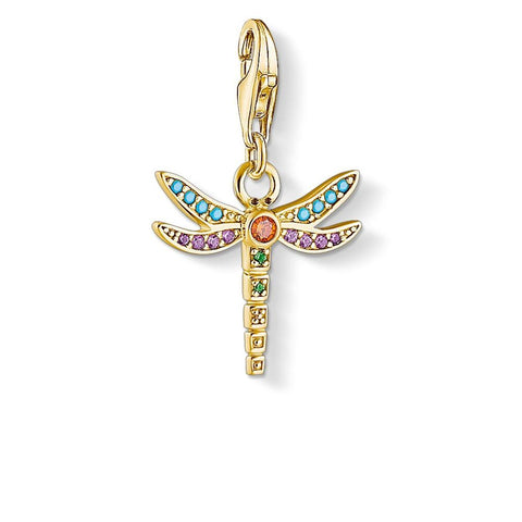 Thomas Sabo Charm Club Dragonfly Yellow Gold Plate - CC1758