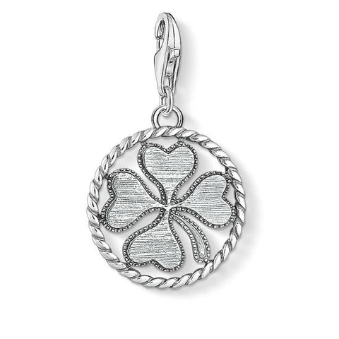 Thomas Sabo Charm Club Oxidised Clover Disc - CC1759