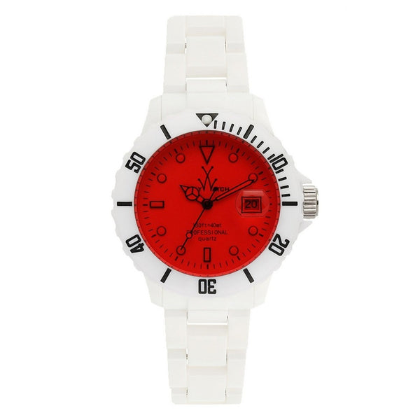 TOYWATCH - WHITE & RED FLUO