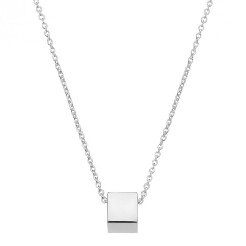 NAJO SILVER CUBULAR NECKLACE