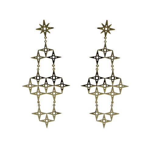 Lindi Kingi North Star Earrings - Gold Plate