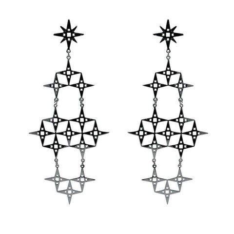 Lindi Kingi North Star Earrings - Silver Plate