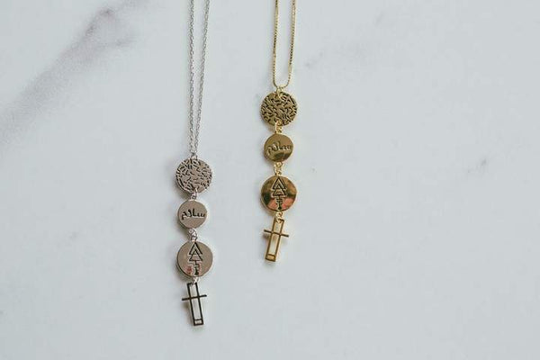 Lindi Kingi Peace Drop Necklace - Gold Plate