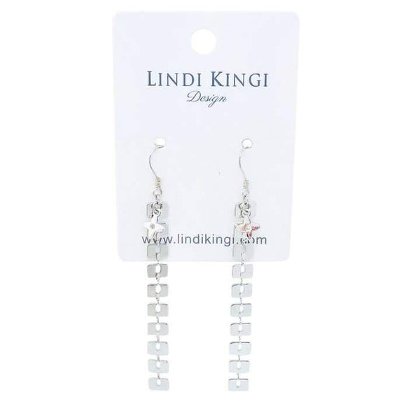 Lindi Kingi Summer Drop Earrings – Silver Plate