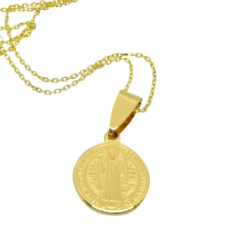 Lindi Kingi Saint Necklace (Large) - Gold Plate