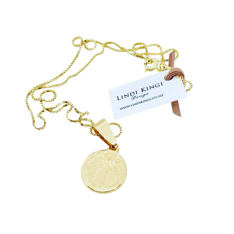 Lindi Kingi Saint Necklace (Small) - Gold Plate