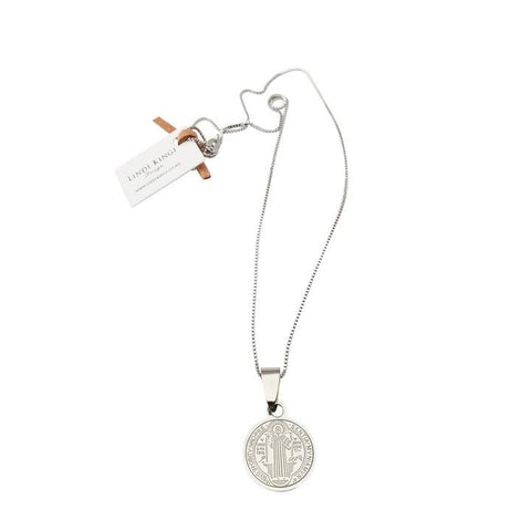 Lindi Kingi Saint Necklace (Small)- Silver Plate