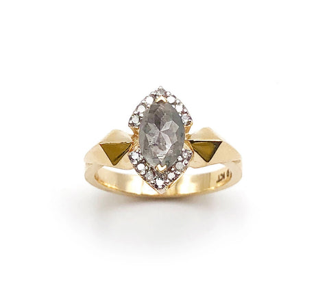 Nick Von K - Hyperspace Ring - Dark Cloud Diamond - 9ct Yellow Gold