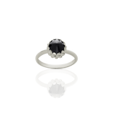 MEADOWLARK MINI PROTEA RING - STERLING SILVER & ONYX