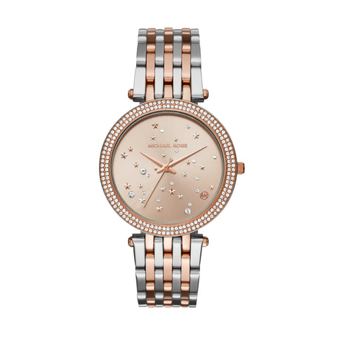 MICHAEL KORS DARCI 2 TONE ROSE & SILVER WATCH MK3726