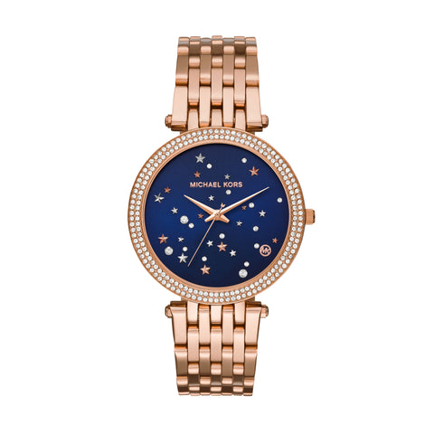 MICHAEL KORS DARCI ROSE & NAVY WATCH MK3728