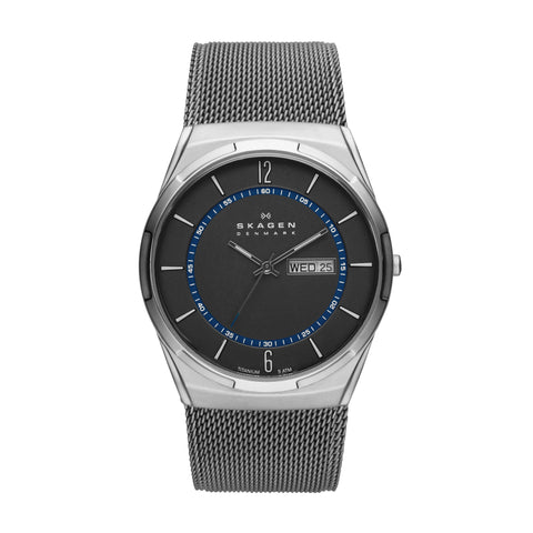 Skagen Melbye Steel Mesh and Titanium Case Multifunction Watch SKW6078