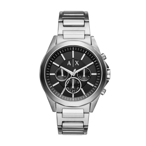 Armani Exchange Black & Silver Gents Watch AX2600