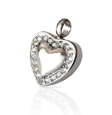 LIFE CYCLE CREMATION PENDANT - SILVER SWEET HEART