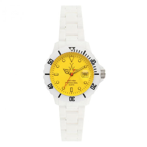 TOYWATCH - WHITE & YELLOW FLUO