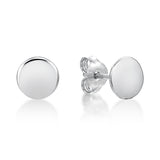 Sterling Silver Disc Studs - 7mm