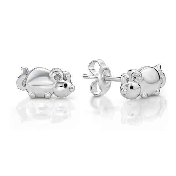 Silver Mouse Studs