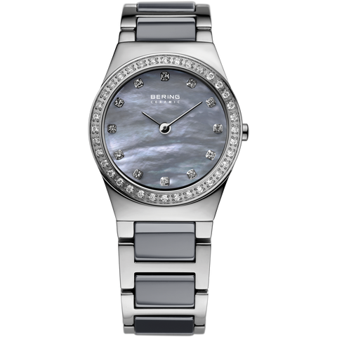 Bering Ladies Grey Ceramic & Steel Watch 32426-789