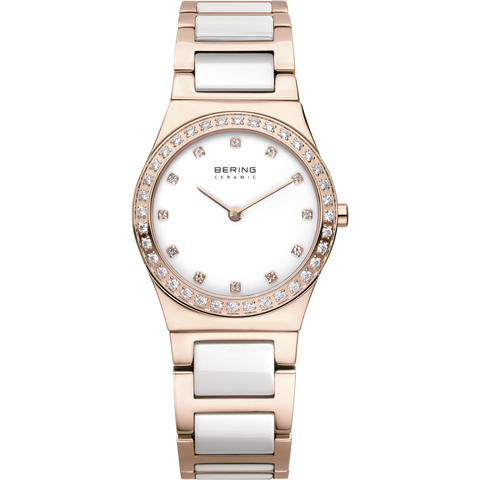 Bering Ladies Ceramic Bezel & Swarovski Elements Watch 32430-761