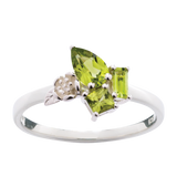 Karen Walker Rock Garden Mini Ring - Silver, Peridot
